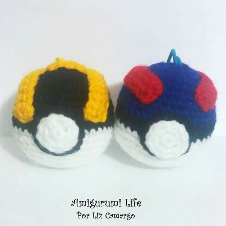 Pokebolas Amigurumis #pokebola #Pokémon #amigurumilife