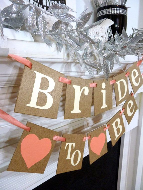 Bridal Shower Decoration Banner / Bride to Be Chair by BannerCheer