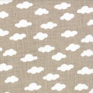 Moda - Story Book Clouds Tan