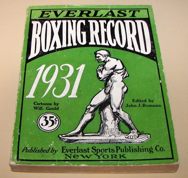 11) Everlast Boxing Record Guide 1931 EXTREMELY RARE!