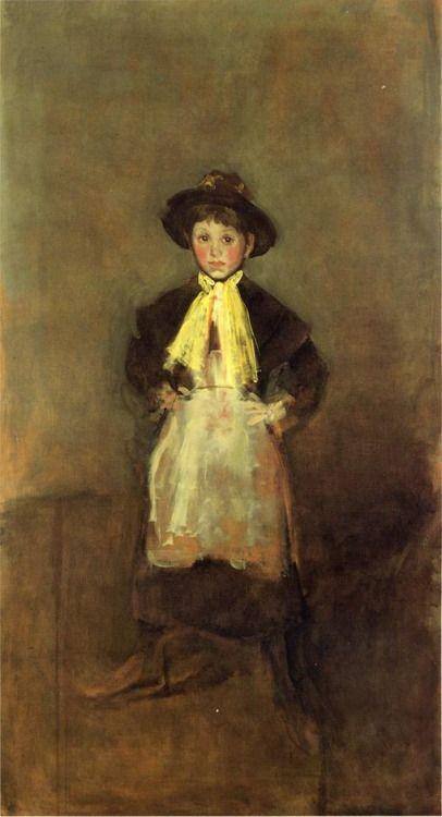The Chelsea Girl via James McNeill Whistler