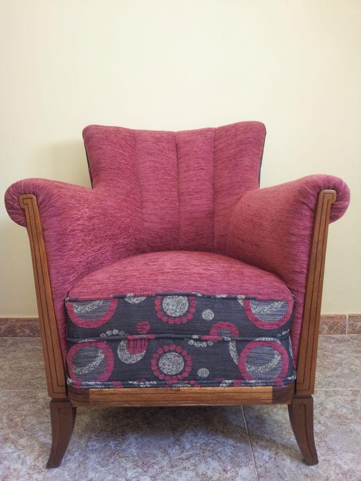 Butaca años 50 restaurada y tapizada