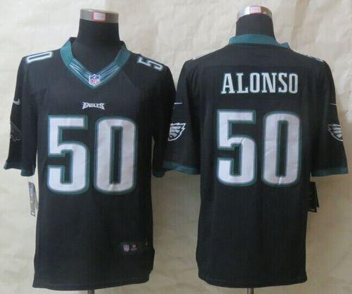 "$23.88 at ""MaryJersey""(maryjerseyelway@gmail.com) Nike Eagles 50 Kiko Alonso Black Alternate Men Stitched NFL New Limited Jersey"