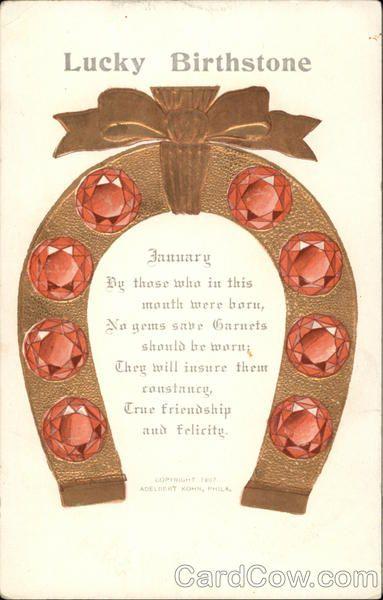 Lucky Birthstone, January Astrology & Zodiac