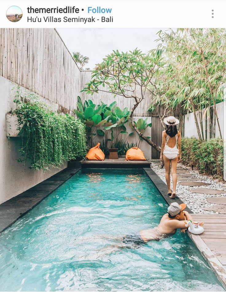 Backyard Pool Ideas Lounging By The Pool Along With Taking