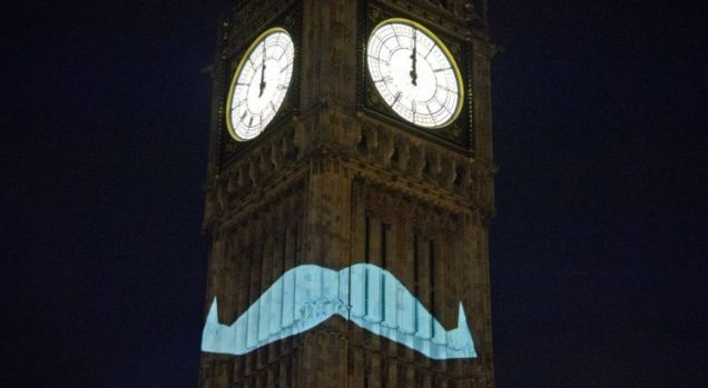 In short, Big Ben sported a bright blue moustache to see in the first of November, the date recently hijacked by charities to encourage awareness and donations to men's charities. Last year, £22m was raised for a number of related charities, including Prostate Cancer UK. The stunt is apparently the work of the UK Movember Foundation, and has grabbed the attention of the national media.