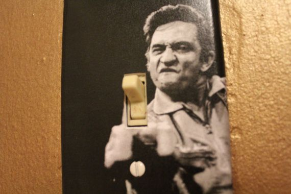 Johnny Cash Middle Finger Light Switch Cover Plate by btpart, $8.00