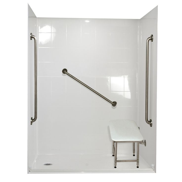 Freedom Barrier Free Roll in System 4 Panels Shower Wall