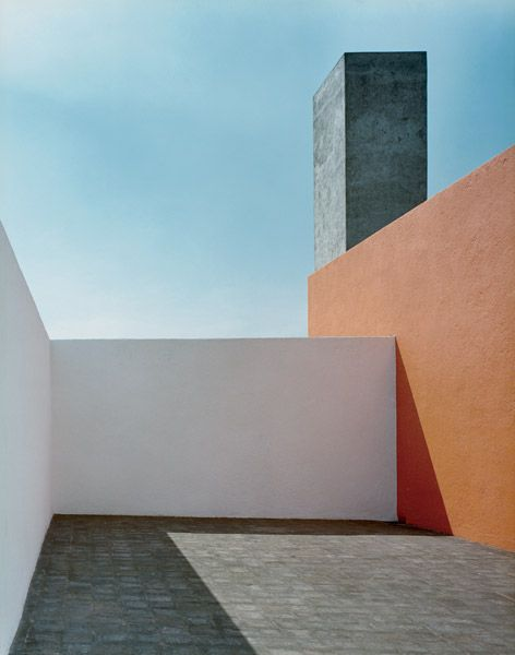 Mexican Modernist architect, Luis Barragan (1902 - 1988), one of the most influential architects of the 20th century, known for his mastery of color, water, space, and light--