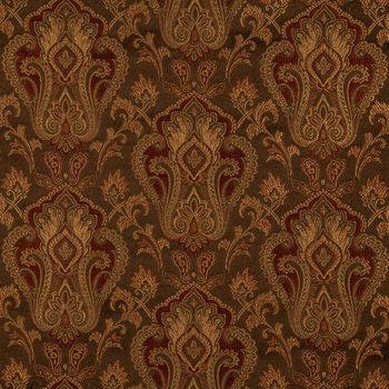 Mocha Orne Fleurs Home Decor Fabric