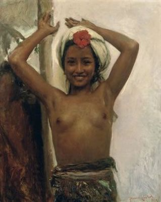 Young Balinese Girl with Hibiscus | by Romualdo Locatelli