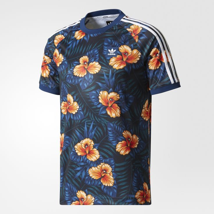 Inspired by the laid-back style of Venice Beach, California, this men's skate jersey has an allover print with vintage floral graphics. It's made with a fast-drying, breathable fabric that's perfect for long skate sessions. 3-Stripes down the sleeves add signature style.