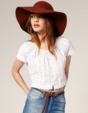 I've been looking for a floppy hat ever since I saw Rachel Zoe in her Lanvin version. And this one doesn't cost thousands of dollars! $42.10