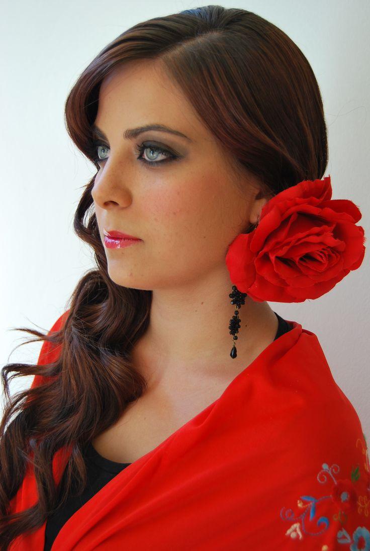 Peinado ondas para flamenca de salones gregorio porras c - Ideas para porras ...