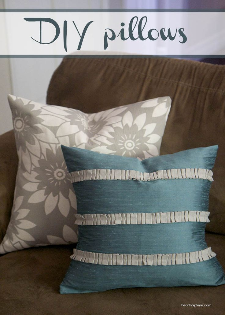 DIY pillows on iheartnaptime.com ... super easy and inexpensive to make!