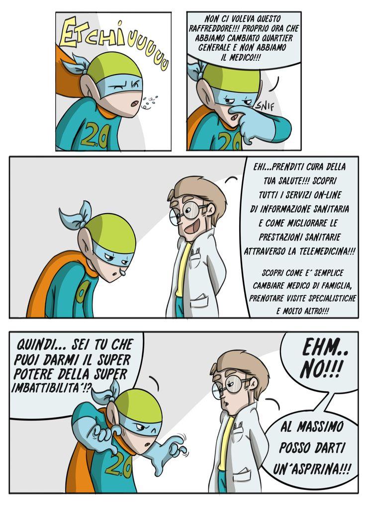 Inverno...tempo di raffreddore per il nostro super eroe. Chissà che non si possa risolvere con la #telemedicina?