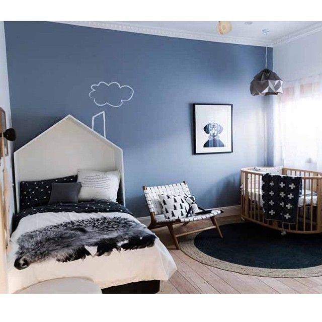 Love the house over the bed. A room a baby/toddler could grow into (Reno Rumble Carly & Leighton)