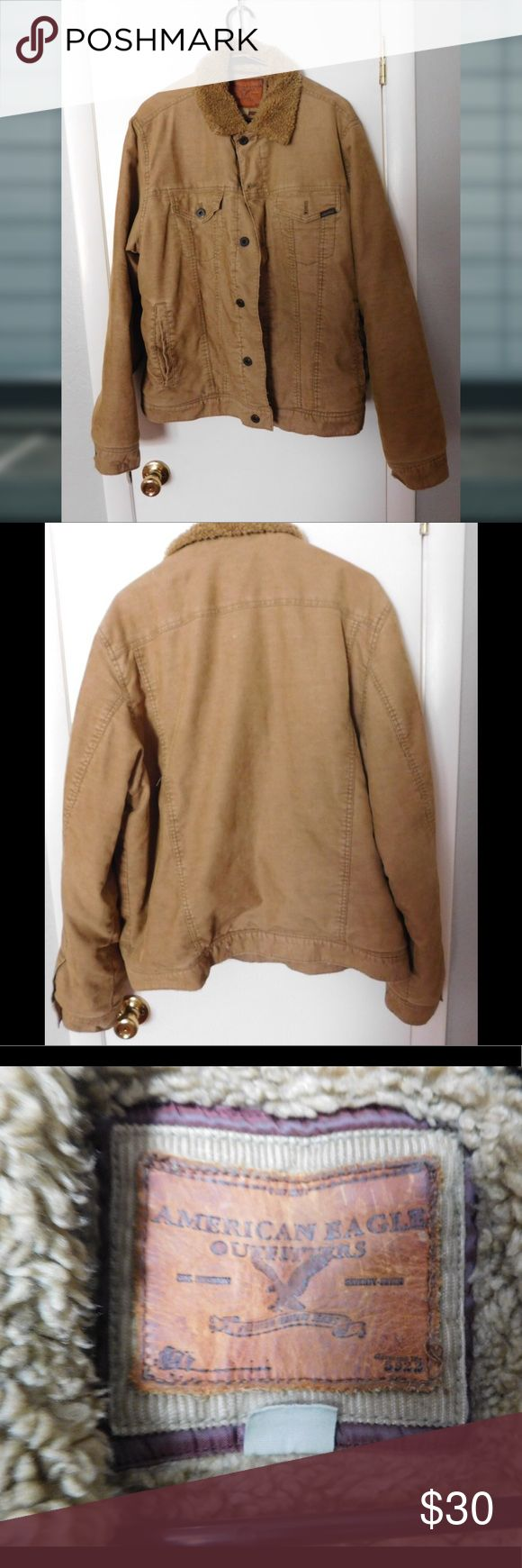 American Eagle Outfitters coat Tan AEO coat. Excellent condition. Very comfy. Size XL American Eagle Outfitters Jackets & Coats