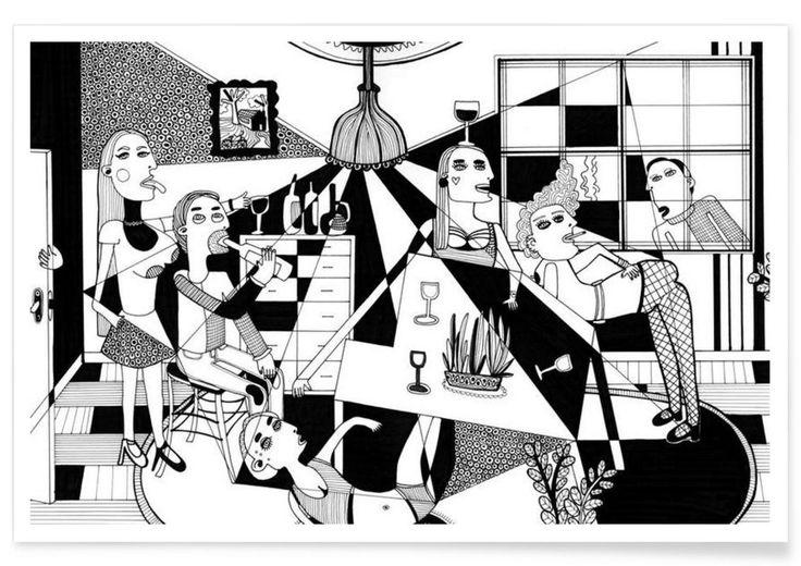 Party as Premium Poster by Studio Teer | JUNIQE