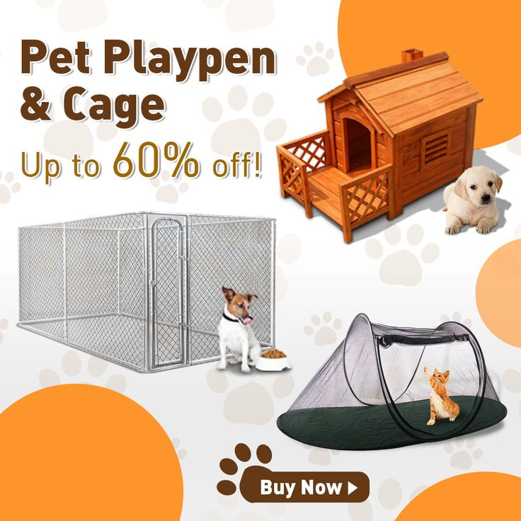 Give your pet a new playpen & cage, up to 60% off. #pets #cages #playpen