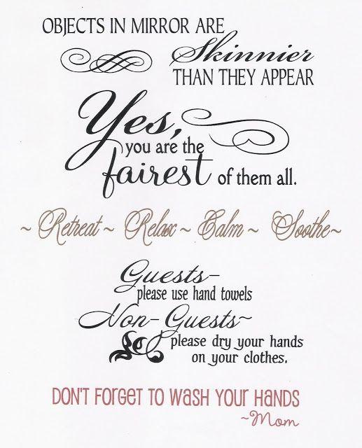 Bathroom Wall Art Sayings My Web Value - Cute sayings for bathroom walls