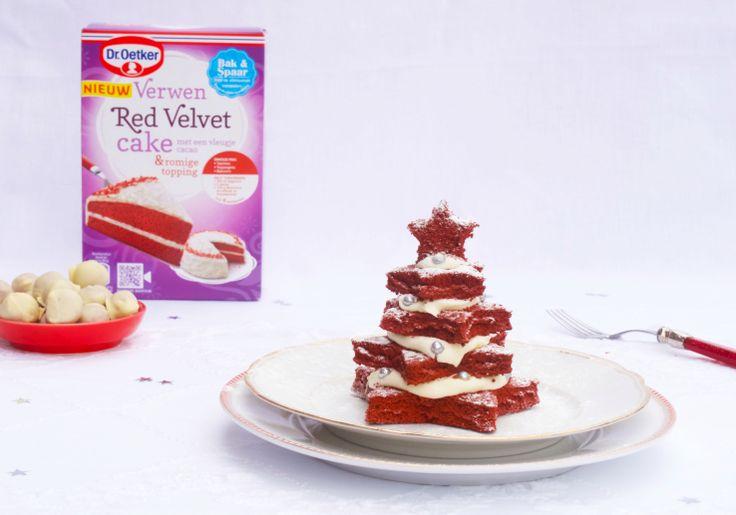 Kerstboompjes van Red Velvet cake