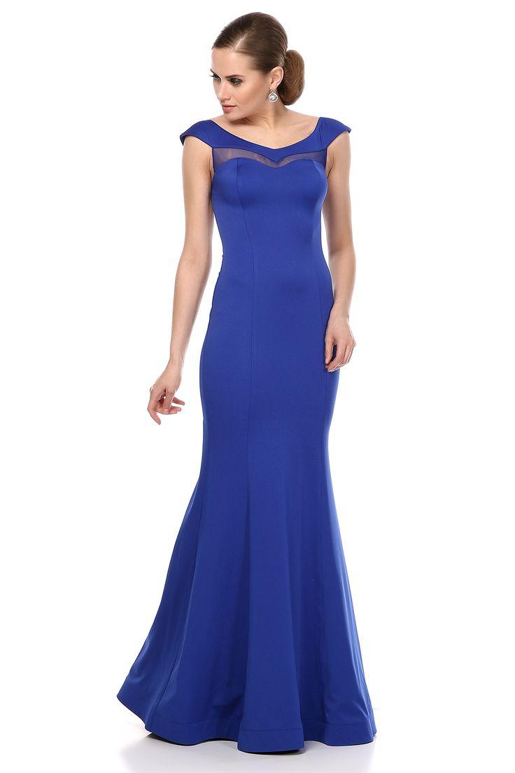 Sax Mavisi Gece Elbisesi saks mavisi abiye elbise