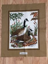Vintage VIP Cranston Print Works Fabric Canada Geese Panel Pillow Bags Quilt