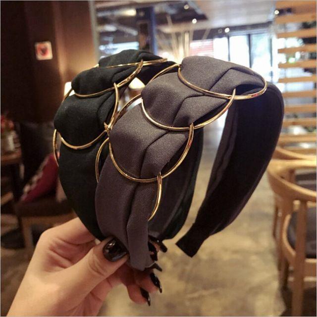 Headband Crystal Knot Rhinestone Headwear Headband Hairband Headpiece Head Hood