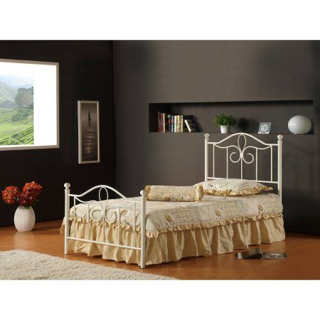 Hillsdale Furniture Westfield Full Metal Bed with Bedframe, White