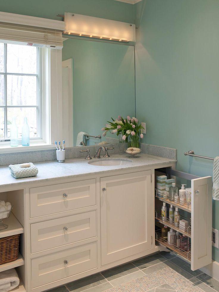 18 Savvy Bathroom Vanity Storage Ideas | Bathroom Ideas & Design with Vanities, Tile, Cabinets, Sinks | HGTV