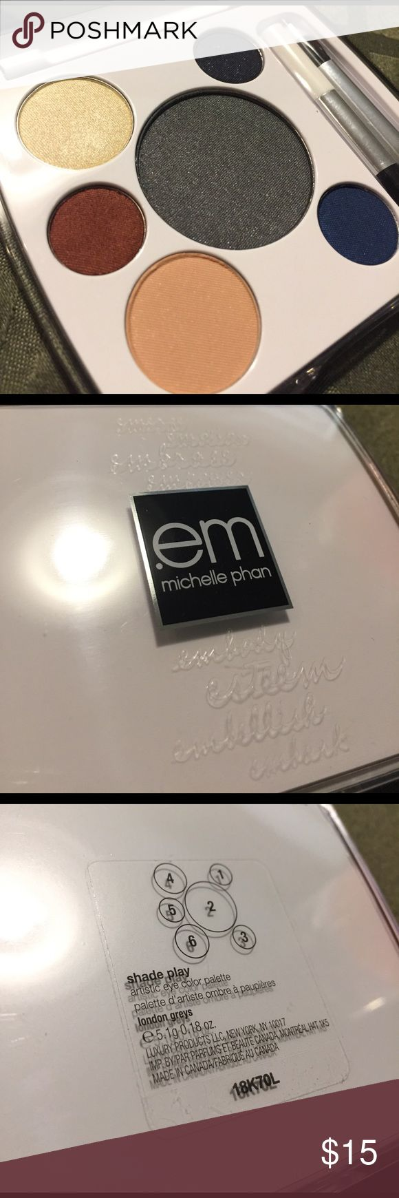 Em Cosmetics Shade Play London Greys Palette In excellent condition. Never Used, no pan hit and still lots of product. Always Authentic.  *Message for any other info* *My products are ALWAYS AUTHENTIC. I only by from Ulta, Sephora, or the cosmetic company's website.* MAC Cosmetics Makeup Eyeshadow