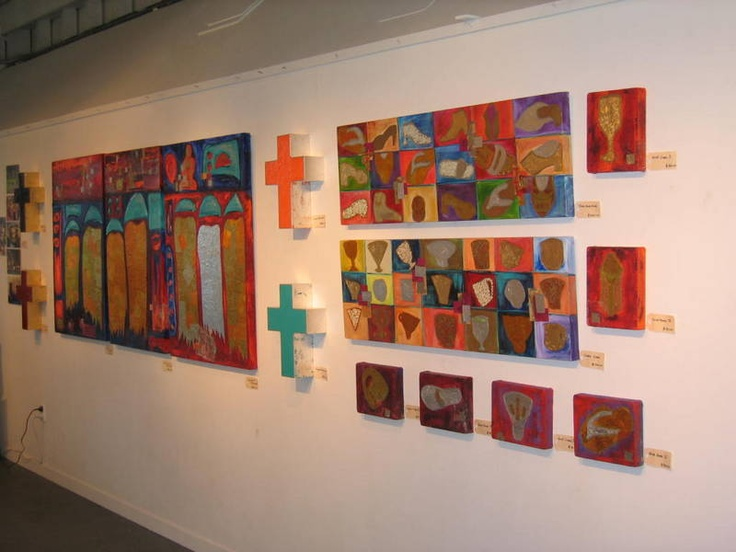 The exhibition wall showing off the works. The influence was after I had toured around Vietnam