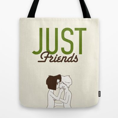 Anti Valentine' s day. Just friends Tote Bag by Spyros Athanassopoulos - $22.00  #totebags #kiss #friends #bag #fabric