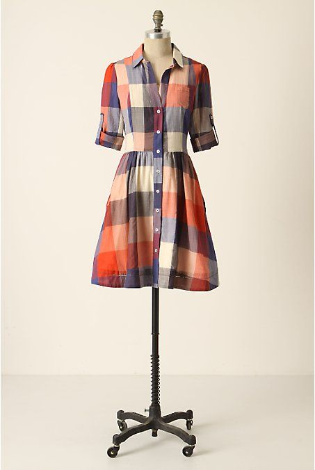 plaid shirt dress inspiration - lisette traveler's dress - simplicity 2246