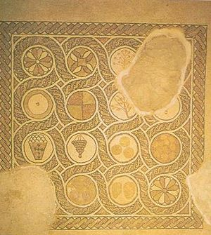 byzantine chapel of masada floor mosaic