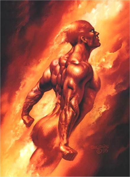 Human Torch by Boris Vallejo