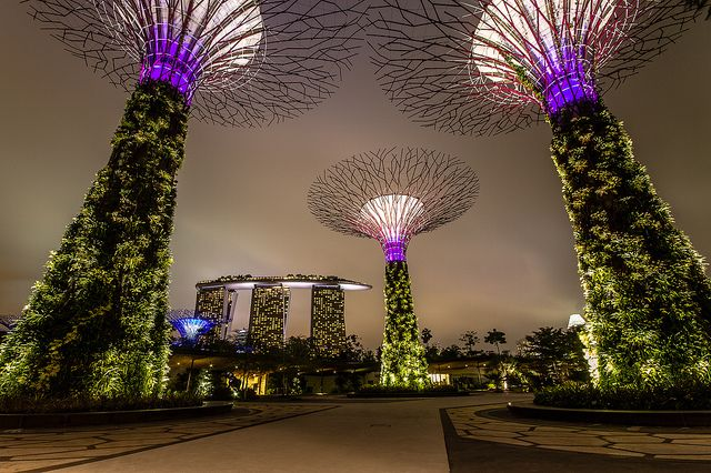 Marina Bay Sands and Skytrees by ACW#, via Flickr