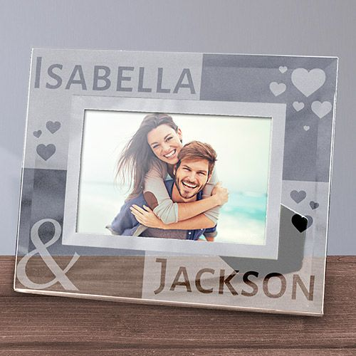 Engraved Loving You Glass Photo Frame