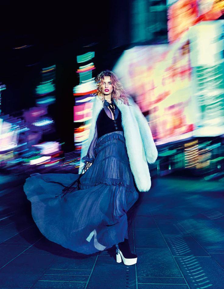 Altuzarra Arctic fox fur Wyatt coat, £9,585. Chloé wool twill waistcoat, £610, and silk crepe dress, £3,865. Giamba suede platform boots, about £620