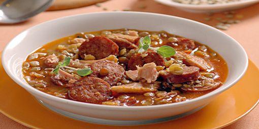 Hustá šošovicová polievka