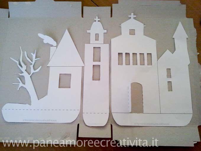 Haunted House Template | Scaricate il cartamodello ( qui ) con il disegno della carta stregata ...