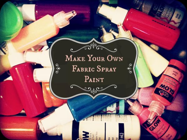 How to make your own fabric spray paint via Coxal Collaborative.