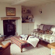 shabby chic room with wood burner - Google Search