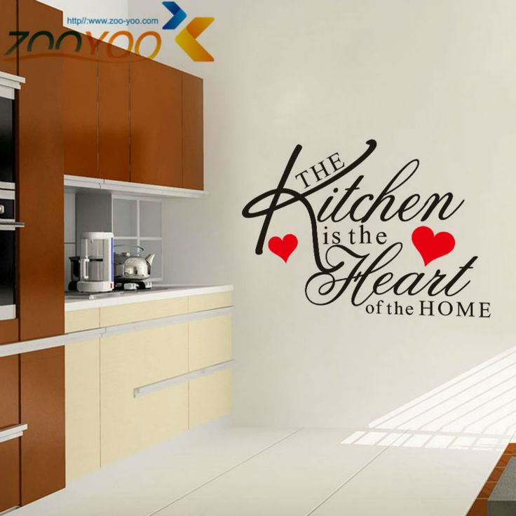 The Kitchen Is The Heart Of Home Wall Quote Decal //Price: $ 10.95 & FREE shipping //  #interiordesign #interior #walldecal #wallsticker #wallstickermurah #decor #walldecor #walldecals #homedecor #wallart #design #decor #wallstargraphics