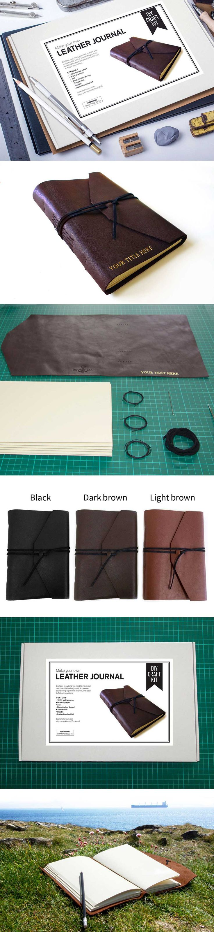 MAKE YOUR OWN JOURNAL KIT. Contains everything you need to make your own…