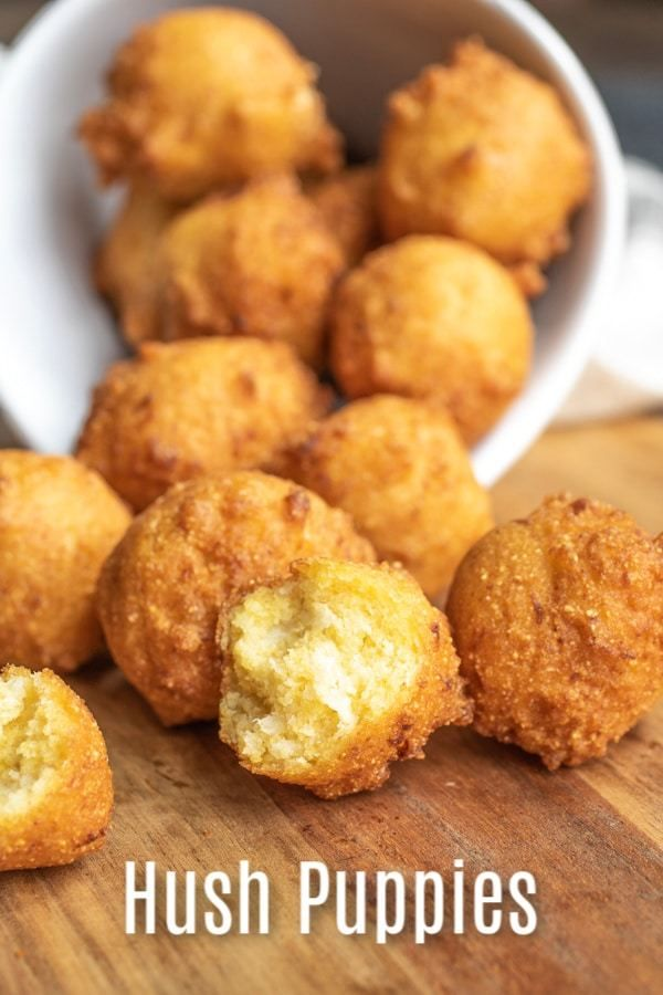 This Homemade Southern Hushpuppies Recipe Is Made With Cornmeal And Onions That Are Fried Until Perfectly Crisp Hush Puppies Recipe Easy Hush Puppy Recipe Food