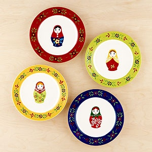 Russian Doll Plates  sc 1 st  Pinterest & 8 best russian dinnerware images on Pinterest | Dishes Crystals and ...