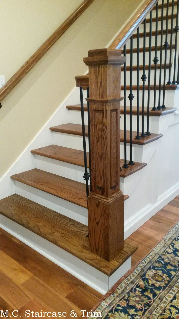 Staircase Remodel From M C Staircase Amp Trim Removal Of Old Treads Wooden Balusters Handrail