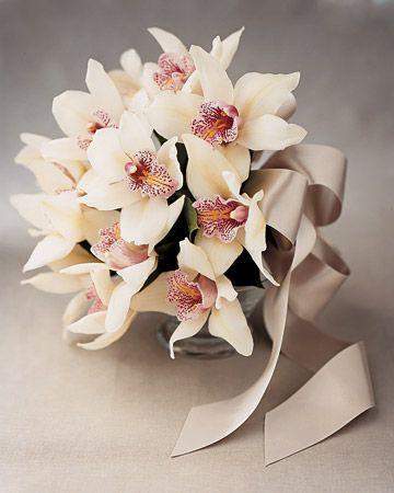 Ideias para buquês de noiva. Gostam das orquídeas?